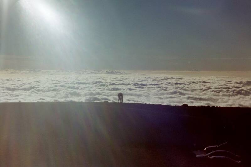 Mountain top, overlooking clouds, Big Island
